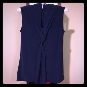 Tops - Navy sleeveless blouse